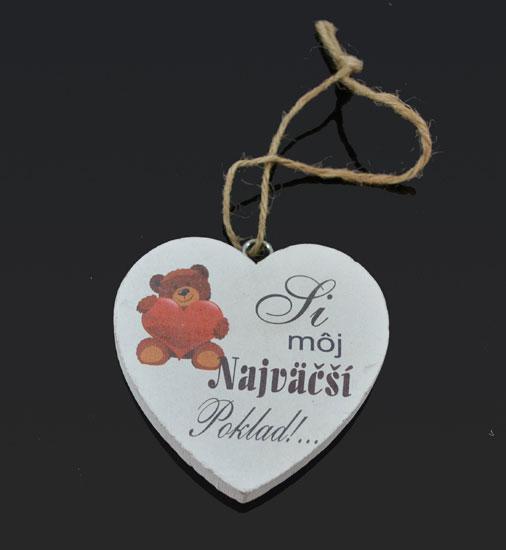 e23ea78a3 Drevené srdce 10cm s potlačou | Margaretkashop - Darčeky za super ceny