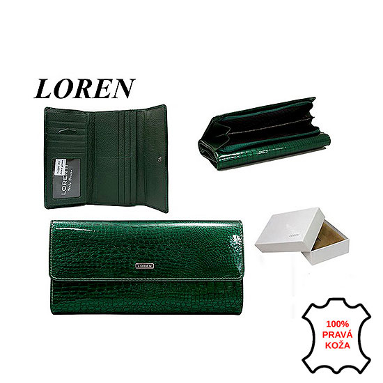 ebacffadd8 Peňaženka kožená dámska Loren LUX green