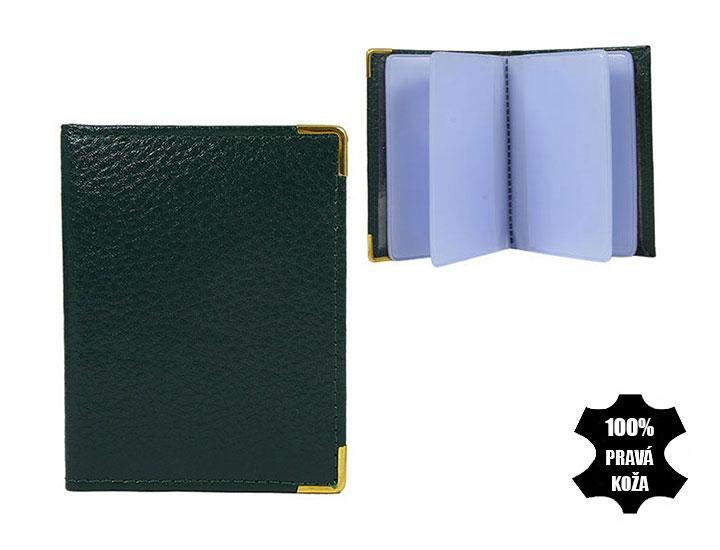 Kožené púzdro na kreditné karty tmavozelené