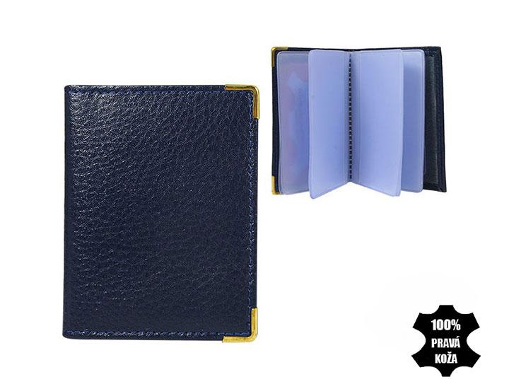 Kožené púzdro na kreditné karty modré