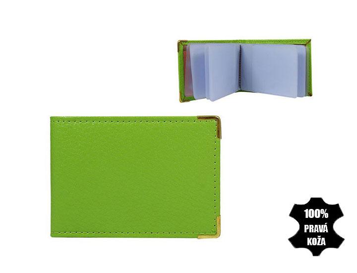 Kožené púzdro na kreditné karty 302 svetlozelené