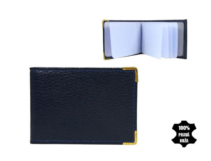 Kožené púzdro na kreditné karty 302 tmavomodré