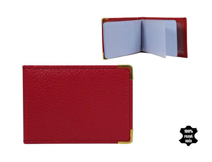 Kožené púzdro na kreditné karty 302 ružové