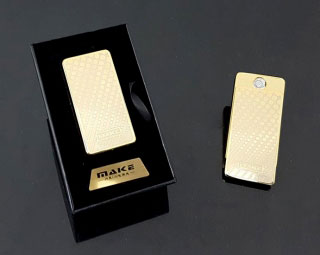 MAKE Zapaľovač USB Gold