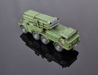 Model raketometu BM-27 URAGAN 1:74