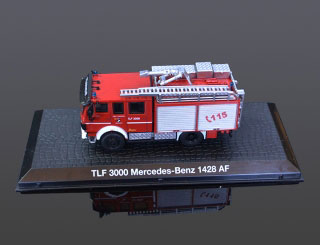 DeAgostini Model veterán TLF 3000 Mercedes-Benz 1428 AF 1:72