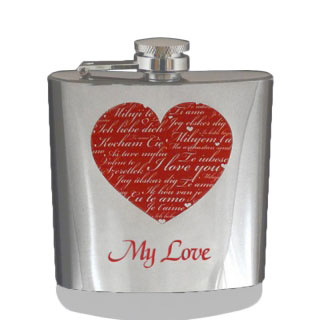 Ploskačka nerez My Love 180ml