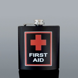 Ploskačka nerez FIRST AID 180 ml